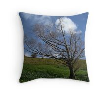 Tree on Mt. Hobson Throw Pillow