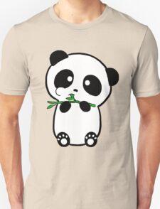 Panda Eating Bamboo Unisex T-Shirt
