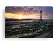 New Brighton Lighthouse Sunset, Merseyside Canvas Print