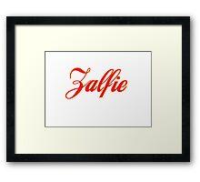 Zalfie Framed Print