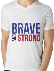 Brave and Strong America Mens V-Neck T-Shirt