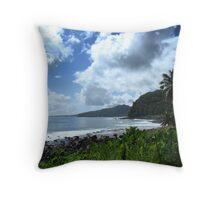 Samoan Coastline Throw Pillow