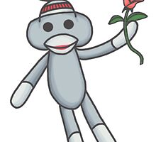 Sock Monkey with flower by Darthblueknight
