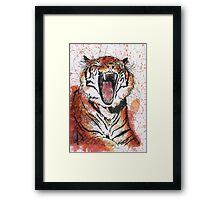 Scribble Ink Tiger Framed Print