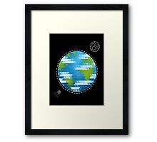Earth Geometric Framed Print