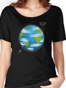 Earth Geometric Women's Relaxed Fit T-Shirt
