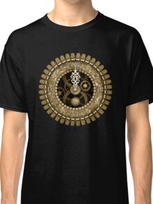 Steampunk Vintage Clock Face in Sepia Classic T-Shirt
