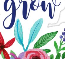 Let Love Grow Floral Quote Sticker
