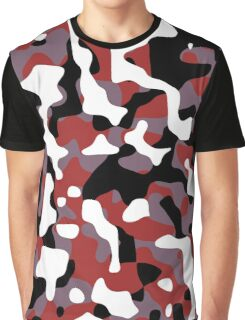 Red Camouflage Graphic T-Shirt