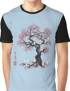 Forest Spirits Sumi-e Graphic T-Shirt