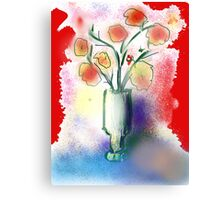 Vase With Flowers by Roger Pickar, Goofy America Canvas Print