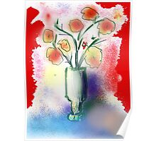 Vase With Flowers by Roger Pickar, Goofy America Poster