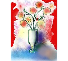 Vase With Flowers by Roger Pickar, Goofy America Photographic Print
