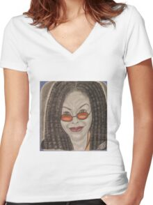 an American comedian, actress, singer,writer, and television host Women's Fitted V-Neck T-Shirt