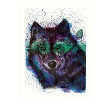 Scribble Ink Wolf Art Print