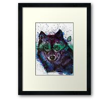 Scribble Ink Wolf Framed Print