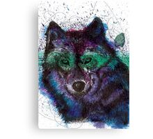 Scribble Ink Wolf Canvas Print
