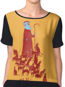 Herding Cats Women's Chiffon Top
