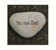 Heart shaped rock & text Art Print