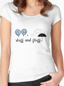 Oh, stuff and fluff- Winnie the Pooh Women's Fitted Scoop T-Shirt