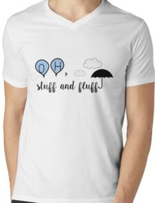 Oh, stuff and fluff- Winnie the Pooh Mens V-Neck T-Shirt