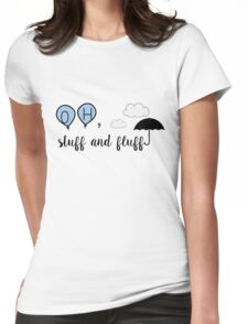 Oh, stuff and fluff- Winnie the Pooh Womens Fitted T-Shirt