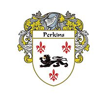 Perkins Coat of Arms / Perkins Family Crest Photographic Print