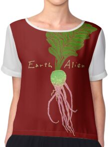 Earth Alien Watermelon Radish Women's Chiffon Top
