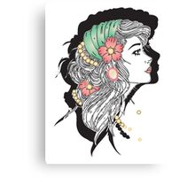GYPSY OPAL ROSE Canvas Print