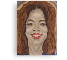 American media proprietor, talk show host, actress, producer, and philanthropist Canvas Print