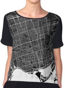 Toronto - Minimalist City Map Chiffon Top