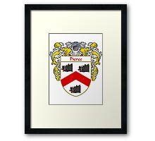 Pierce Coat of Arms / Pierce Family Crest Framed Print