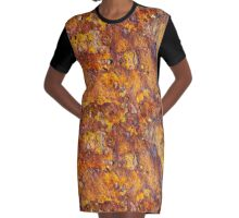 Rusted metal surface Graphic T-Shirt Dress