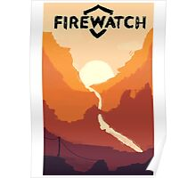 Firewatch horizion with logo Poster