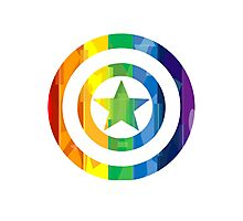 Captain America Pride Photographic Print