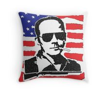 Hunter S Thompson. Drugs, alcohol, violence and insanity Throw Pillow