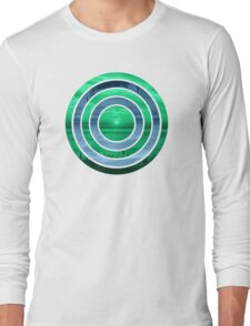 Peacock Sunset Long Sleeve T-Shirt