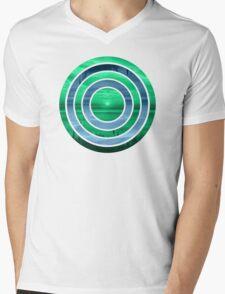 Peacock Sunset Mens V-Neck T-Shirt