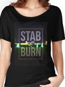 Shirt Design Stub and Burn Women's Relaxed Fit T-Shirt