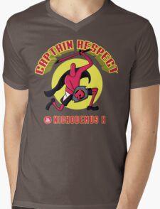 Captain Respect Mens V-Neck T-Shirt