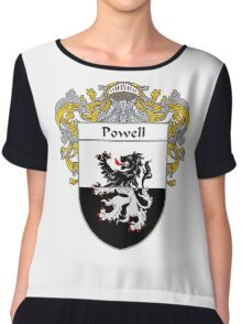 Powell Coat of Arms / Powell Family Crest Chiffon Top