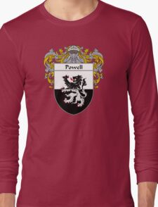 Powell Coat of Arms / Powell Family Crest Long Sleeve T-Shirt
