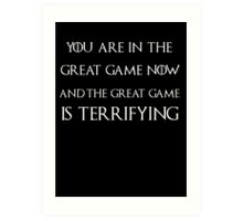 Game of thrones Tyrion Lannister the great game Art Print