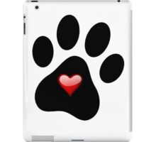 Dog Lover Paw Print with Heart Shirt Stickers Poster Pillows Cases iPad Case/Skin