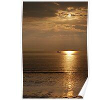 Hunstanton sunset on the Norfolk coast Poster
