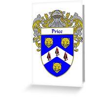 Price Irish Coat of Arms / Price Irish Family Crest Greeting Card