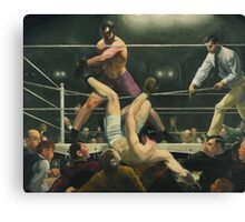 Dempsey and Firpo Boxing - George Bellows Canvas Print