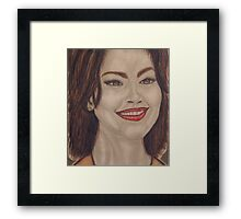 An American actress and singer Framed Print
