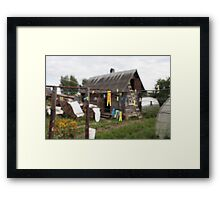 yellow Clothespin Framed Print