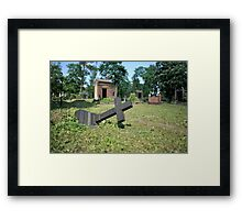 felled grave cross Framed Print